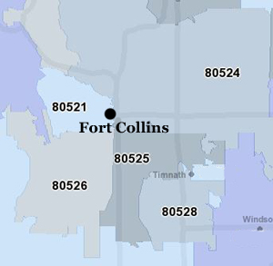 Search for Fort Collins Homes by Zip Code
