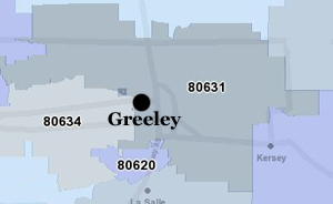 Search for Greeley Homes for Sale by Zip Code