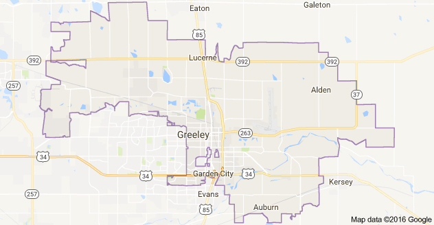 Map of Greeley CO Zip Code 80631
